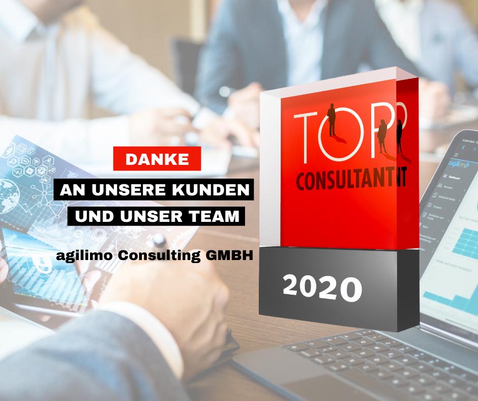 agilimo als TOP CONSULTANT 2020 ausgezeichnet